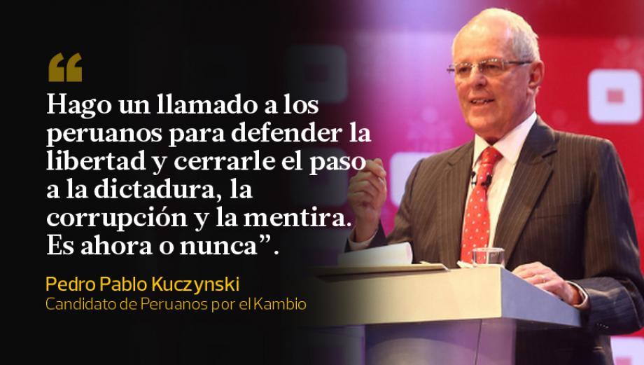 Las frases de PPK durante el debate con Keiko Fujimori