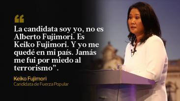Las frases de Keiko Fujimori en el debate presidencial con PPK