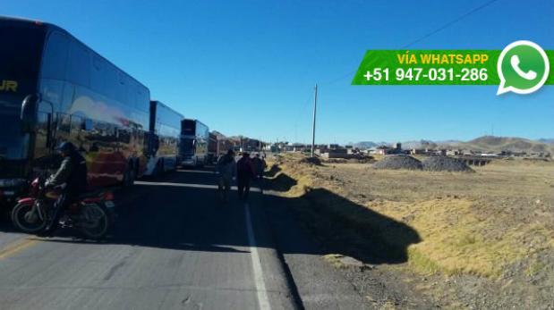 Puno: carretera se encuentra bloqueada por paro de 48 horas