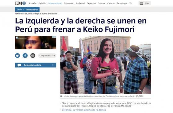 Medios internacionales están pendientes de elecciones en Perú