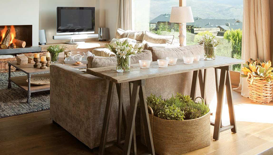 Creativas mesas echas con caballetes decoraci n casa y - Mesa con caballetes ...
