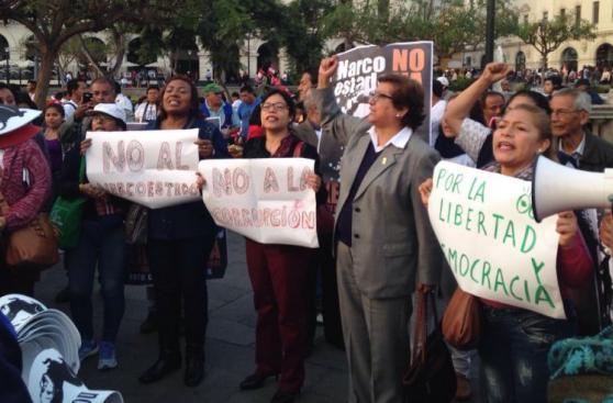 Marcha contra Keiko: los políticos e imágenes que resaltaron