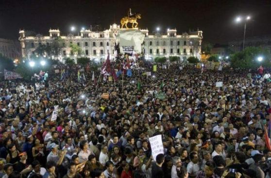 Marcha contra Keiko: así fue la movilización de miles en Lima