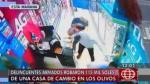 Los Olivos: así fue violento robo armado a casa de cambio - Noticias de alfredo mendiola