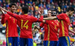 España goleó 6-1 a Corea del Sur en amistoso FIFA