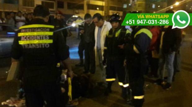 San Luis: motociclista intentó fugar tras atropellar a anciano