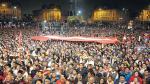 Marcha contra Keiko culminó con mitin en la plaza Dos de Mayo - Noticias de congresista sergio tejada