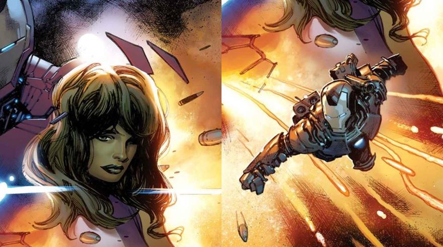 De izquierda a derecha, She Hulk y War Machine. (Imagen: Marvel)