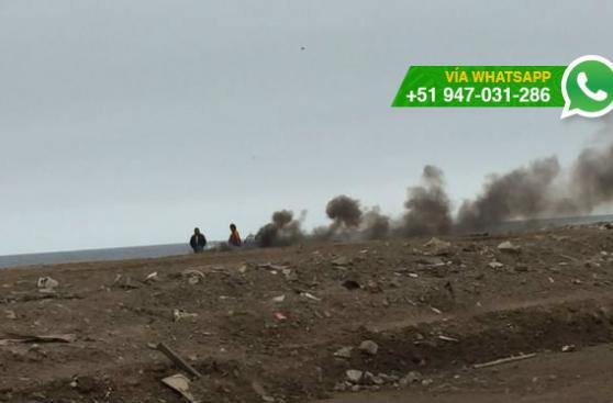 Chorrillos: denuncian quema de materiales en playa La Chira