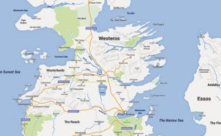 """Google Maps: así luciría el universo de """"Game of Thrones"""""""