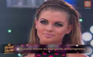 """Brunella Horna, eliminada de """"El gran show"""" de Gisela Valcárcel"""