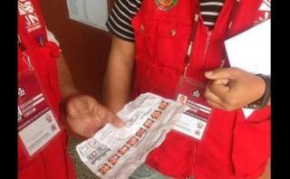 Hallan propaganda de Keiko Fujimori en cabina de votación