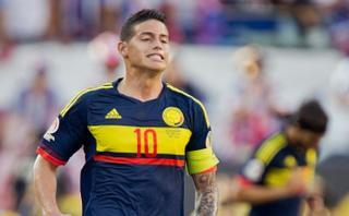 James Rodríguez sería baja en Colombia frente a Paraguay