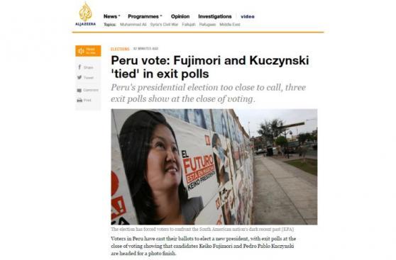 Keiko vs. PPK: medios internacionales reportan resultados
