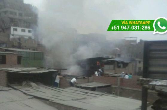 Rímac: incendio afectó inmueble en AA.HH. Mariscal Castilla