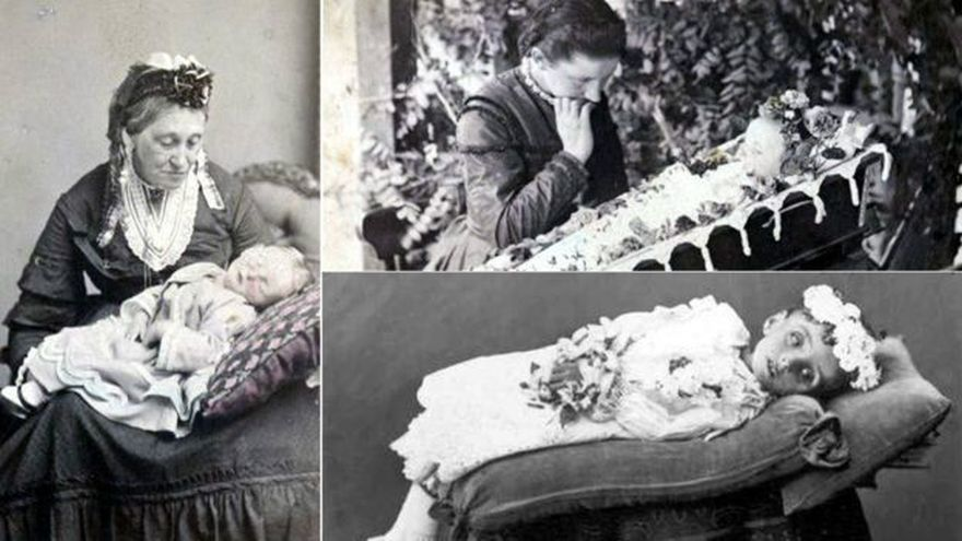 La fotografía funeraria no sólo fue popular en Europa. Estas imágenes fueron hechas en Australia y son parte de la colección de Biblioteca Estatal de Australia del Sur.