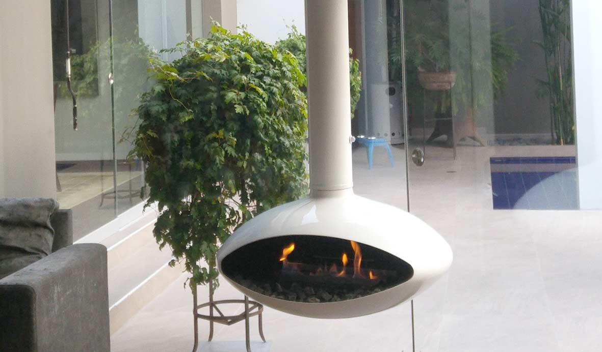 7 incre bles chimeneas modernas que le dar n calidez a tu - Fuego para chimeneas decorativas ...