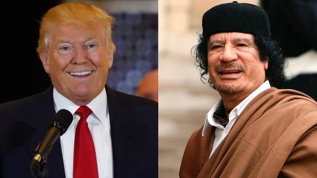 """Donald Trump: """"Hice un montón de dinero con Gadafi"""""""