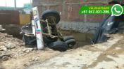 Cercado de Lima: camión cayó en hoyo de construcción
