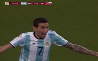 Di María anotó 1-0 ante Chile y lo dedicó a su abuela fallecida