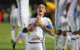 """James Rodríguez después de su gol: """"Yo aquí juego hasta cojo"""""""