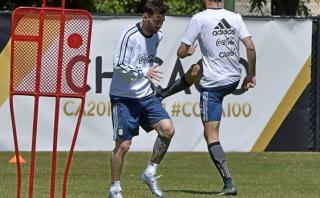 Lionel Messi entrenó con el grupo y sería titular ante Panamá