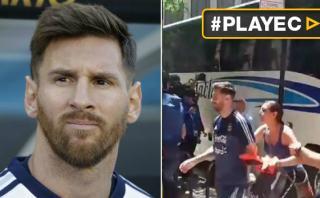 Messi fue sorprendido por fanática que lo rasguñó sin querer