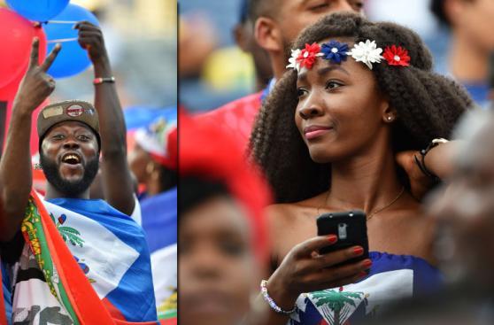 Brasil vs. Haití: un partido de color en las tribunas [FOTOS]