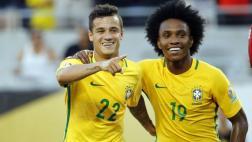 Brasil aplastó 7-1 a Haití con hat-trick de Coutinho [VIDEO]