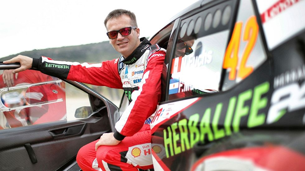 Nicolás Fuchs cumplió un buen papel en el Shakedown del Rally Italia, en la categoría WRC 2. (fotos: Prensa Fuchs)