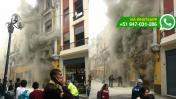 Incendio en edificio comercial de Jirón de la Unión (FOTOS)