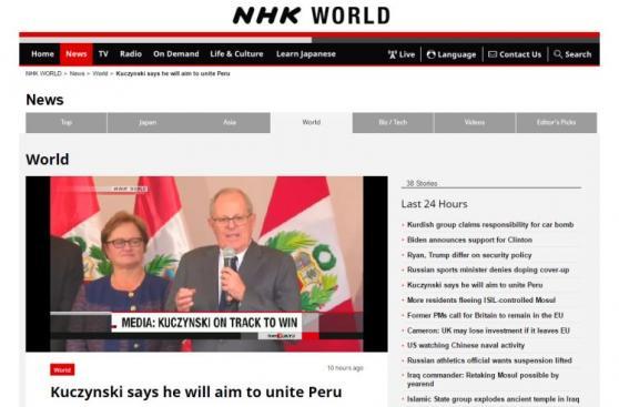 PPK: el virtual presidente del Perú, en los ojos del mundo