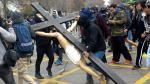 Chile: Destrozan Cristo en protesta de estudiantes [FOTOS] - Noticias de jorge burgos
