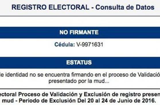 Venezuela: Capriles denuncia la exclusión de su firma