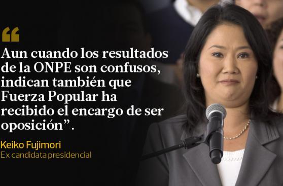 Keiko Fujimori y sus frases tras aceptar la victoria de PPK