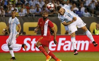 Argentina vs. Panamá: Otamendi anotó el 1-0 con gran cabezazo