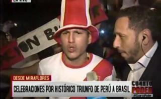 Miraflores: así celebran hinchas victoria de Perú ante Brasil
