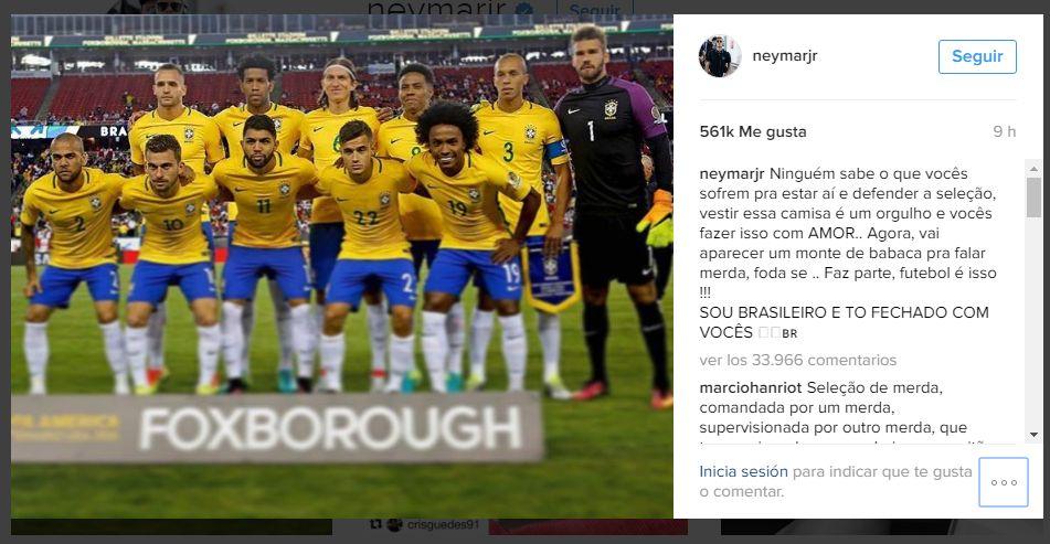 [Foto] Neymar tuvo durísimas palabras tras eliminación de Brasil