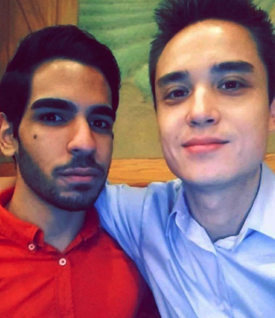 This undated photo shows Christopher Andrew Leinonen, right, one of the people killed in the Pulse nightclub in Orlando, Fla., early Sunday, June 12, 2016. A gunman wielding an assault-type rifle and a handgun opened fire inside the nightclub, killing dozens in the worst mass shooting in modern U.S. history. The man at left is unidentified. (Facebook via AP)