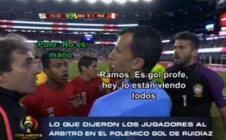Perú: lo que dijeron jugadores al árbitro tras mano de Ruidíaz