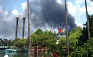Alarma en Orlando: Gran incendio cerca de Disney World