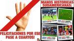Hinchas uruguayos celebraron victoria de Perú ante Brasil - Noticias de edinson cavani