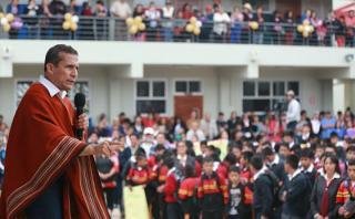 Humala: En 2021 inversión en educación debe ser del 6% del PBI