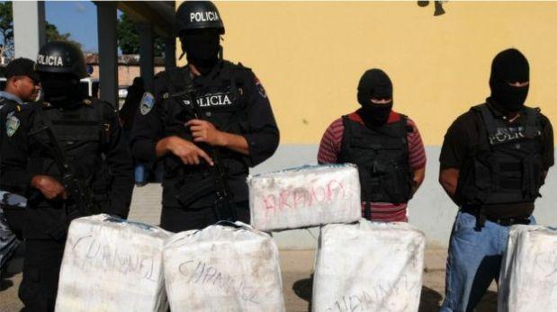 Cargamento de cocaína decomisado en Honduras. (Foto: AFP)