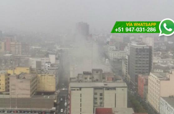 Incendio afecta edificio del Centro de Lima (VIDEO)