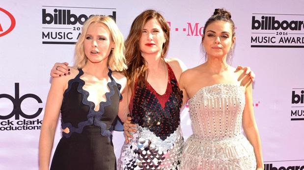 Kristen Bell, Kathryn Hahn y Mila Kunis de la película