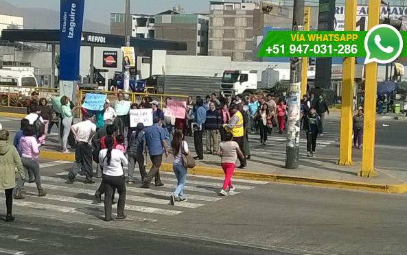 Vecinos se manifestaron contra proyecto inmobiliario (Foto: WhatsApp El Comercio)