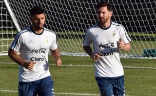 Lionel Messi y el pedido al 'Kun' Agüero a modo de cábala