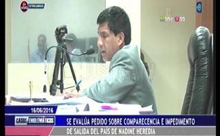 Caso Nadine Heredia: Interrumpen veredicto para reubicar autos