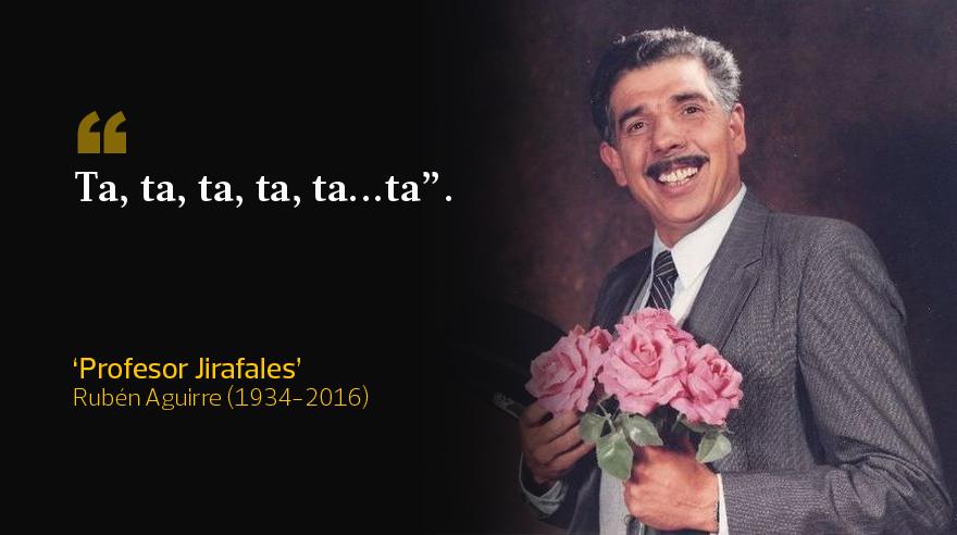 Las frases del 'profesor Jirafales', entrañable personaje de Rubén Aguirre en 'El chavo del ocho'. (Imagen: Rubén Aguirre)